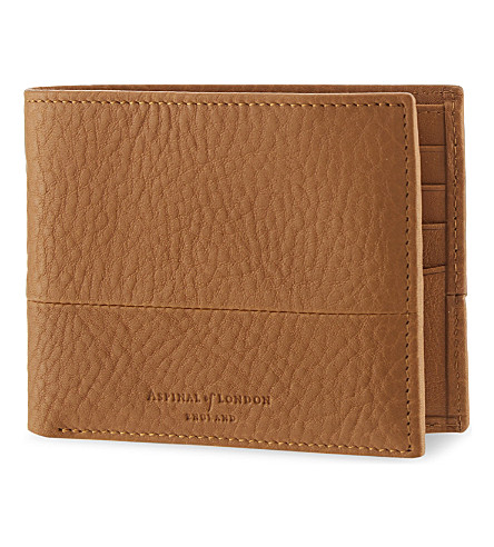 ASPINAL OF LONDON Shadow bi-fold leather wallet (Tan