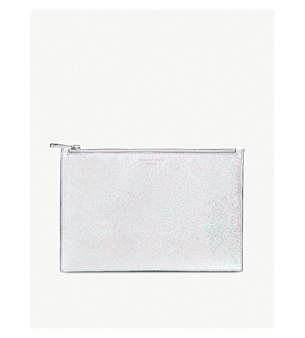 ASPINAL OF LONDON Essential iridescent leather pouch (Shooting+star