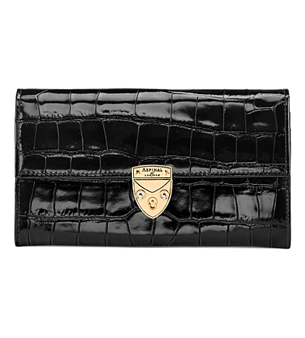 ASPINAL OF LONDON Mayfair leather purse (Black