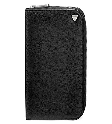 ASPINAL OF LONDON Mount Street saffiano leather wallet (Black