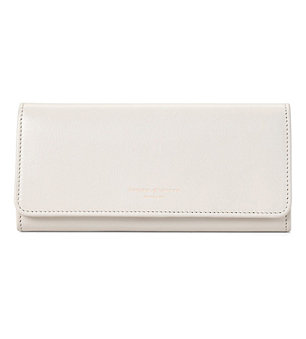 ASPINAL OF LONDON Lottie leather purse (Ivory