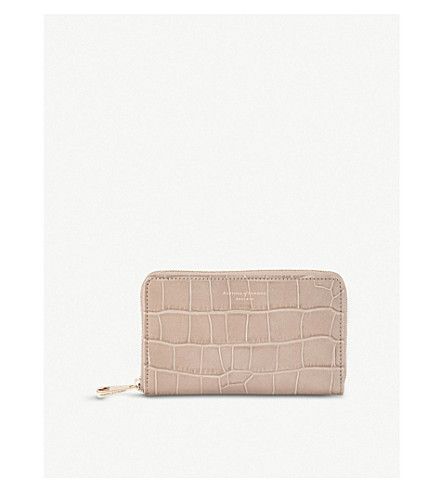 ASPINAL OF LONDON MIDI CONTINENTAL LEATHER CLUTCH WALLET