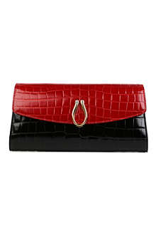 ASPINAL Eaton mock croc leather clutch bag