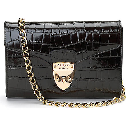 ASPINAL Manhattan clutch (Black