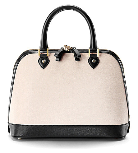 ASPINAL OF LONDON Hepburn saffiano leather tote bag (Monochrome