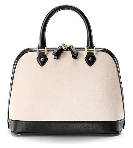 ASPINAL OF LONDON Hepburn saffiano leather tote bag (Monochrome
