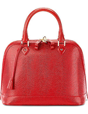 ASPINAL OF LONDON Hepburn lizard-print calf-leather tote