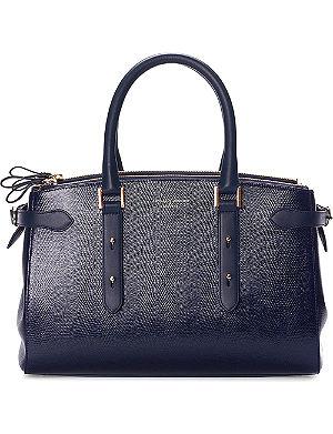 ASPINAL OF LONDON Brook street lizard-embossed leather tote bag