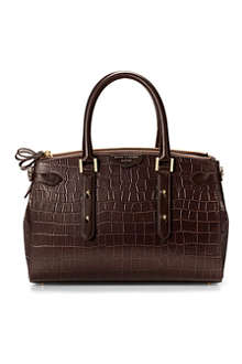ASPINAL Brook Street mock croc leather tote bag