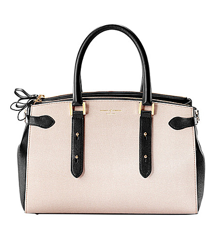 ASPINAL OF LONDON Brook Street leather tote bag (Monochrome