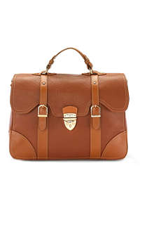 ASPINAL Mollie grained-leather satchel