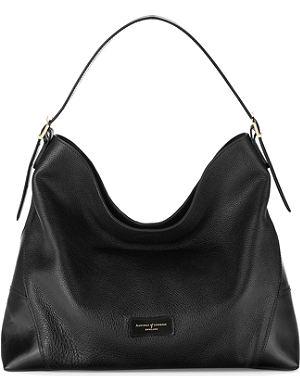 ASPINAL OF LONDON Pebble-leather hobo bag