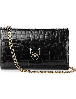 ASPINAL OF LONDON Manhattan croc leather clutch bag