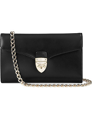 ASPINAL OF LONDON Shield Lock Manhattan clutch bag