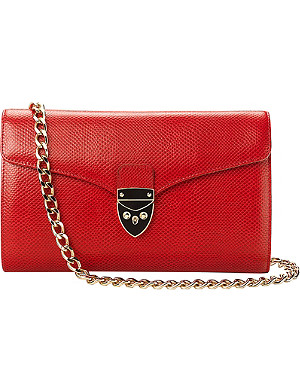 ASPINAL OF LONDON Manhattan leather clutch bag