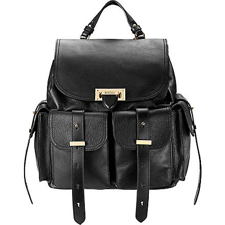 ASPINAL OF LONDON Letterbox leather backpack (Black