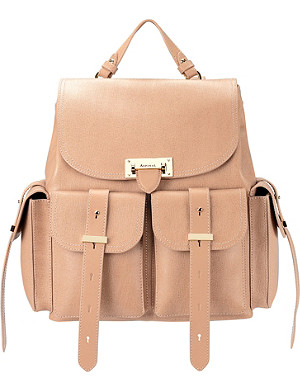ASPINAL OF LONDON Letterbox deer saffiano leather rucksack