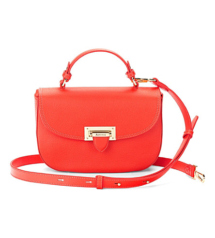 ASPINAL OF LONDON Saddle bag poppy pebble (Poppy