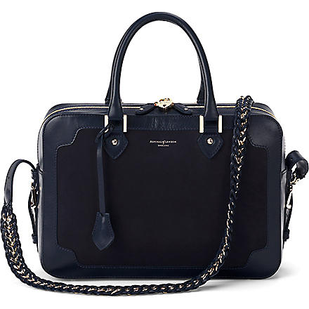 ASPINAL OF LONDON Sophia leather shoulder bag (Navy