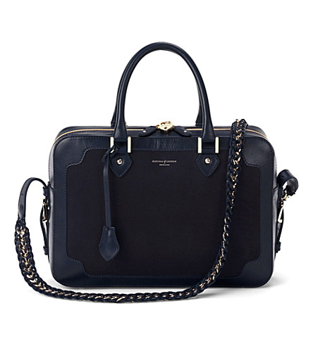 ASPINAL OF LONDON Sofia bag navy nubuck (Navy