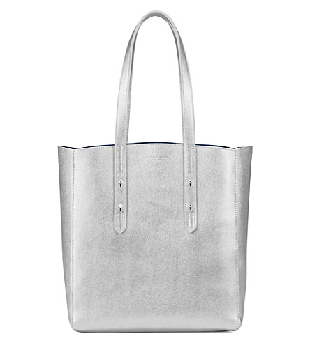 ASPINAL OF LONDON Essential saffiano leather tote (Silver