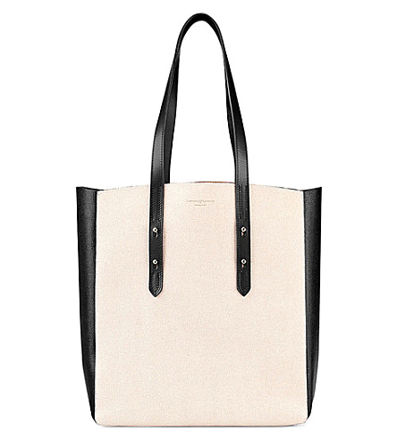 ASPINAL OF LONDON Essential saffiano leather tote bag (Monochrome