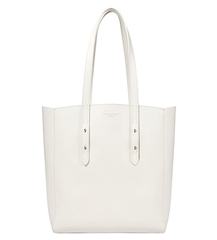 ASPINAL OF LONDON Essential leather tote bag (Ivory
