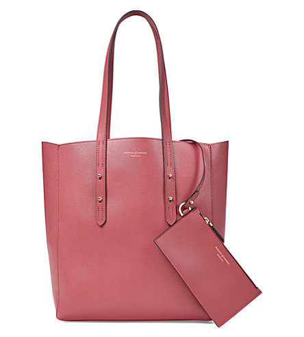 ASPINAL OF LONDON Essential leather tote bag (Blush+pink