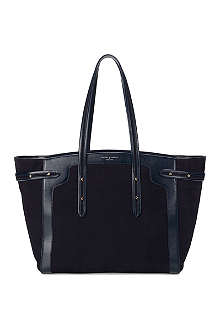 ASPINAL Marylebone Light nubuck leather tote bag