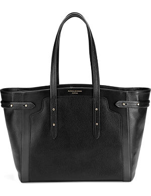 ASPINAL OF LONDON Marylebone Light leather tote bag