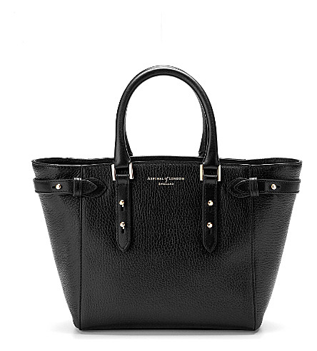 ASPINAL OF LONDON Marylebone mini leather tote bag (Black