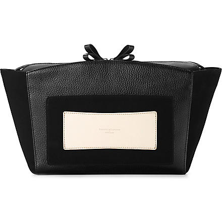 ASPINAL OF LONDON Marylebone leather clutch (Black