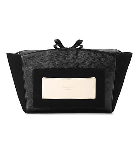 ASPINAL OF LONDON Marylebone clutch bag black pebble (Black