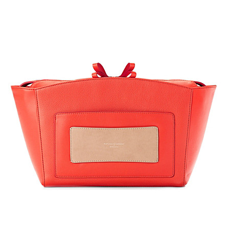 ASPINAL OF LONDON Marylebone clutch bag poppy pebble (Poppy