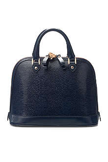 ASPINAL Mini Hepburn lizard-print leather tote