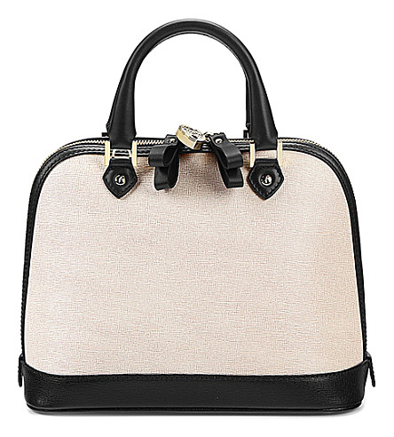ASPINAL OF LONDON Hepburn leather tote bag (Monochrome