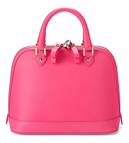 ASPINAL OF LONDON Mini Hepburn leather tote bag (Pink