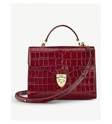 ASPINAL OF LONDON Mayfair mock-croc leather bag (Burgundy