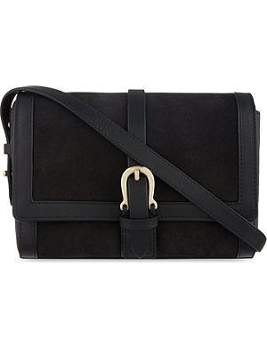 ASPINAL OF LONDON Buckle mini nubuck shoulder bag