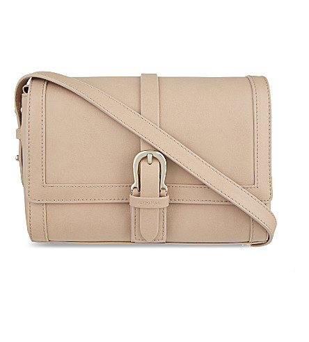 ASPINAL OF LONDON Buckle mini leather shoulder bag (Nude