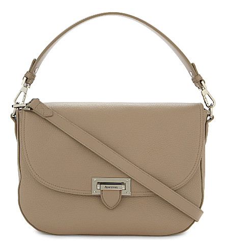 ASPINAL OF LONDON Slouchy leather saddle bag (Brown