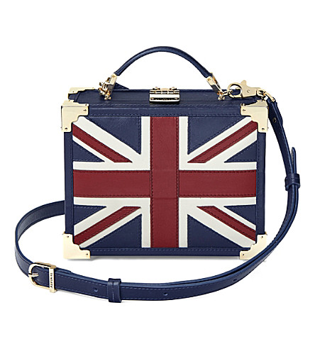ASPINAL OF LONDON Trunk leather Union Jack shoulder bag (Brit