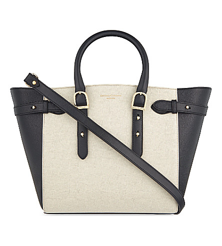 ASPINAL OF LONDON Marylebone monochrome mix leather medium tote (Monochrome