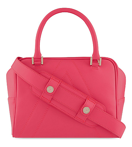 ASPINAL OF LONDON A small leather bowling bag (Pink