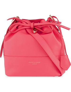 ASPINAL OF LONDON Padlock nappa leather bucket bag