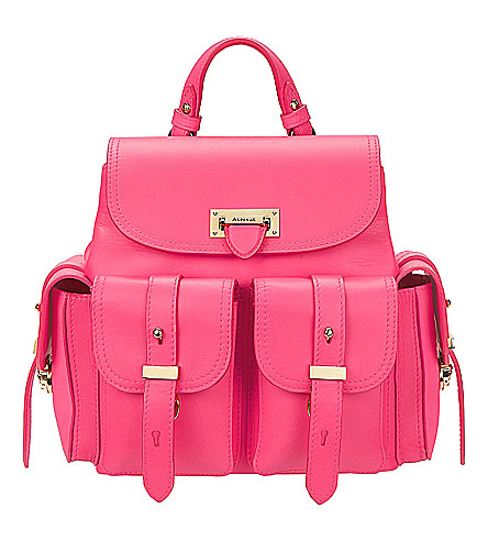 ASPINAL OF LONDON Mini leather letterbox backpack (Pink