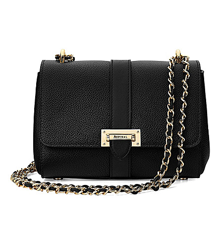 ASPINAL OF LONDON Lottie leather shoulder bag (Black