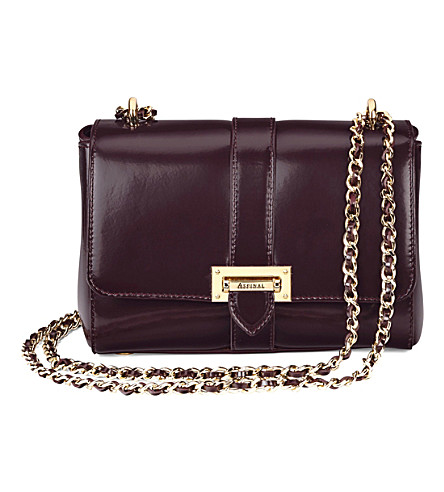 ASPINAL OF LONDON Lottie chain-strap leather bag (Mahogany