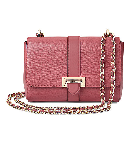 ASPINAL OF LONDON Lottie leather shoulder bag (Blush+pink