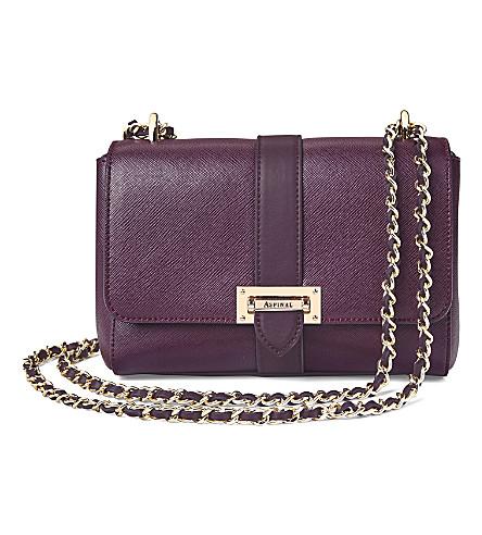 ASPINAL OF LONDON Lottie leather shoulder bag (Grape